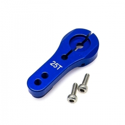 Servo arm alloy 24mm blue -...