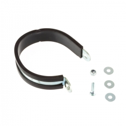 Pipe clamp with rubber...