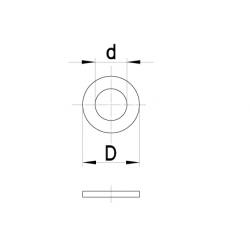 Sluitring tbv cilinderkop (10st)