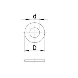Sluitring tbv zeskant (10st)