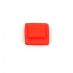 Rubber cap stop button