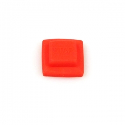 Rubber cap stop button