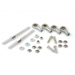 Alloy 7075 steering rods with steel ball joints